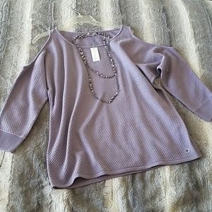 New York & Company Cold shoulder sweater